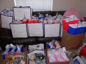 this is only about half of the bags we made!