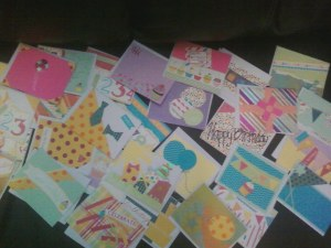 just a sampling of the cards!